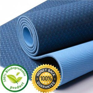 Amazon Com 1 Pro Floathletika Premium Yoga Pilates Mat In Midnight Blue On Sale Best Yoga Mat On The Mar Yoga Mats Best Yoga Pilates Mats Mat Exercises