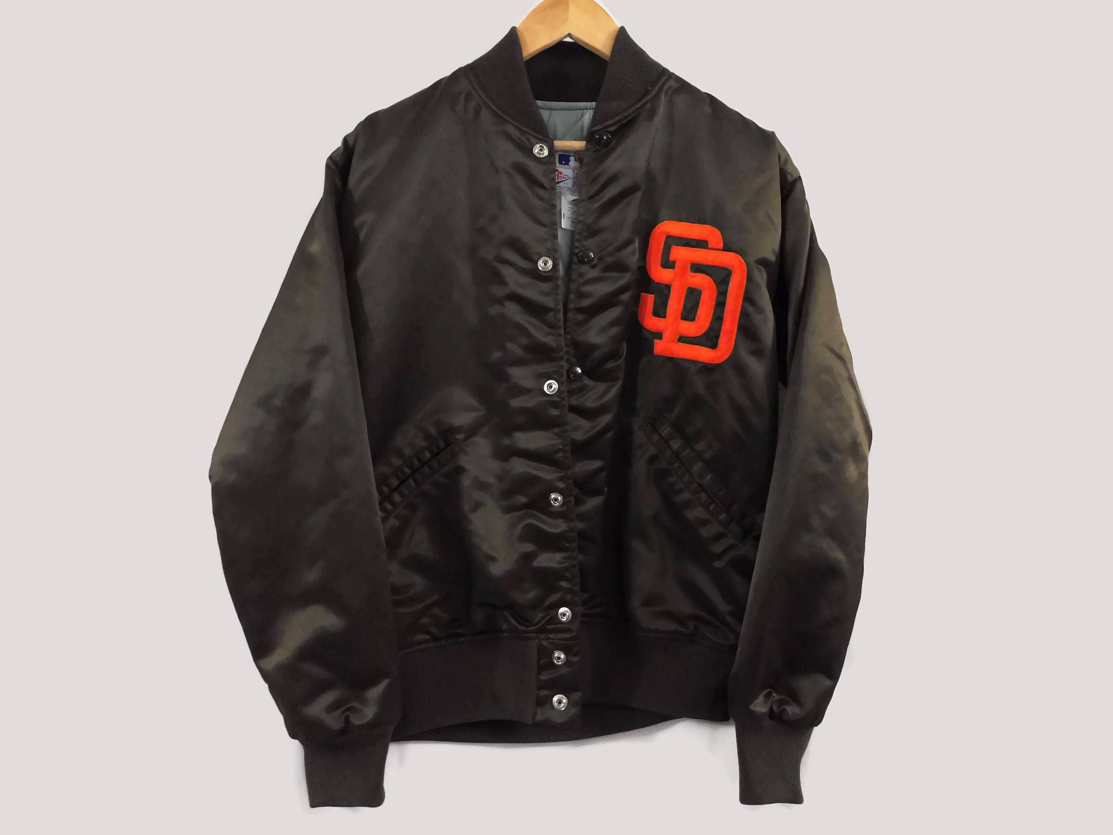 Vintage 80s San Diego Padres Bomber Jacket - Small - Dark Brown - Union  Made in 9e0217245