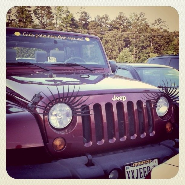 A Jeep With Eyelashes Love 3 Pinterest Jeeps Jeep Life And Cars