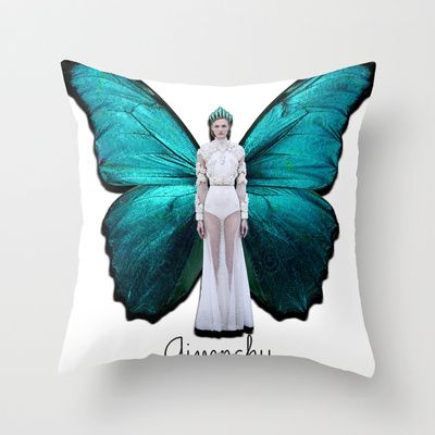 Papilio Givenchy Unframed Throw Pillow by GirlAnnachronism - $20.00