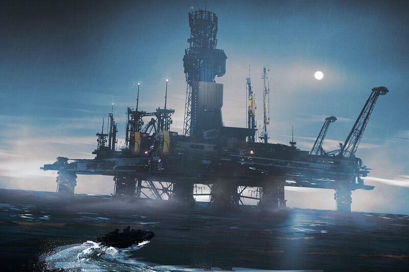 ArtStation Oil rig, Dmitry Vishnevsky in 2020 Oil rig