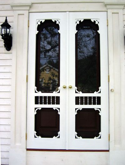 Superior Double Ocean View Screen U0026 Storm Door From Our Victorian Collection.  Installed With Brass Hardware