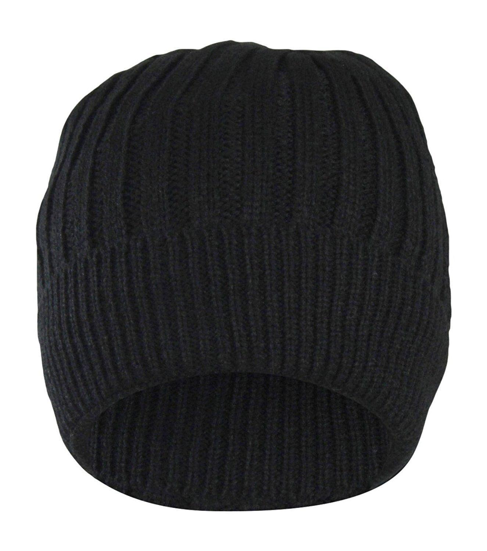 Winter Cable Knit Beanie Hat w Sherpa Fleece Lining For Men   Women ... 265bd360475
