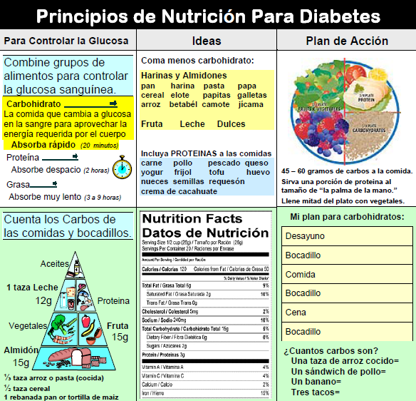 diabetic diet in spanish