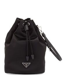 6dcaa7c9bf Prada Nylon Drawstring Pouch. Shop Tessuto Bucket Bag from Prada at  Bergdorf Goodman