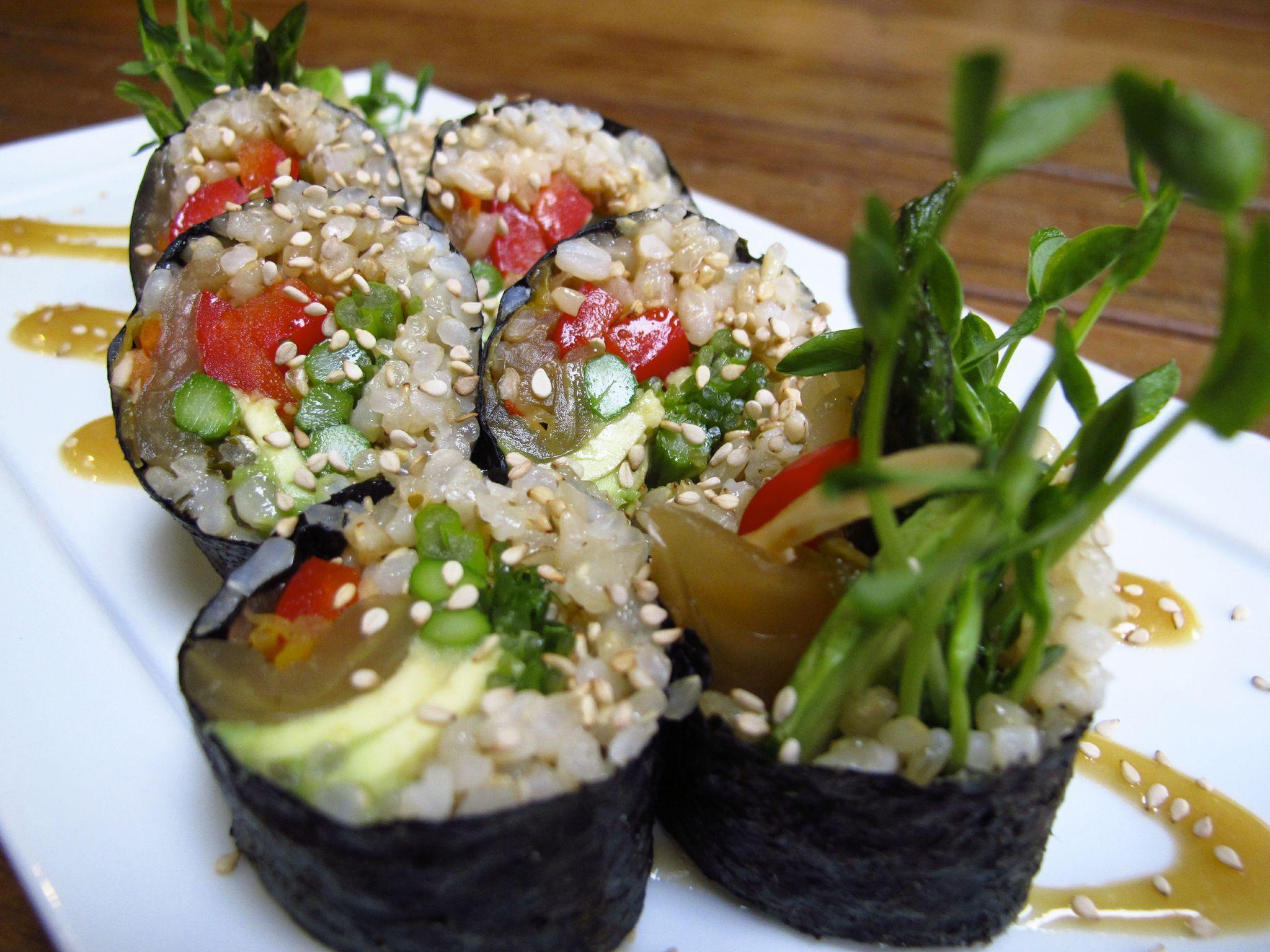 Kimchi Maki Vegan Japanese Food Vegetarian Recipes Healthy Vegan Main Dishes