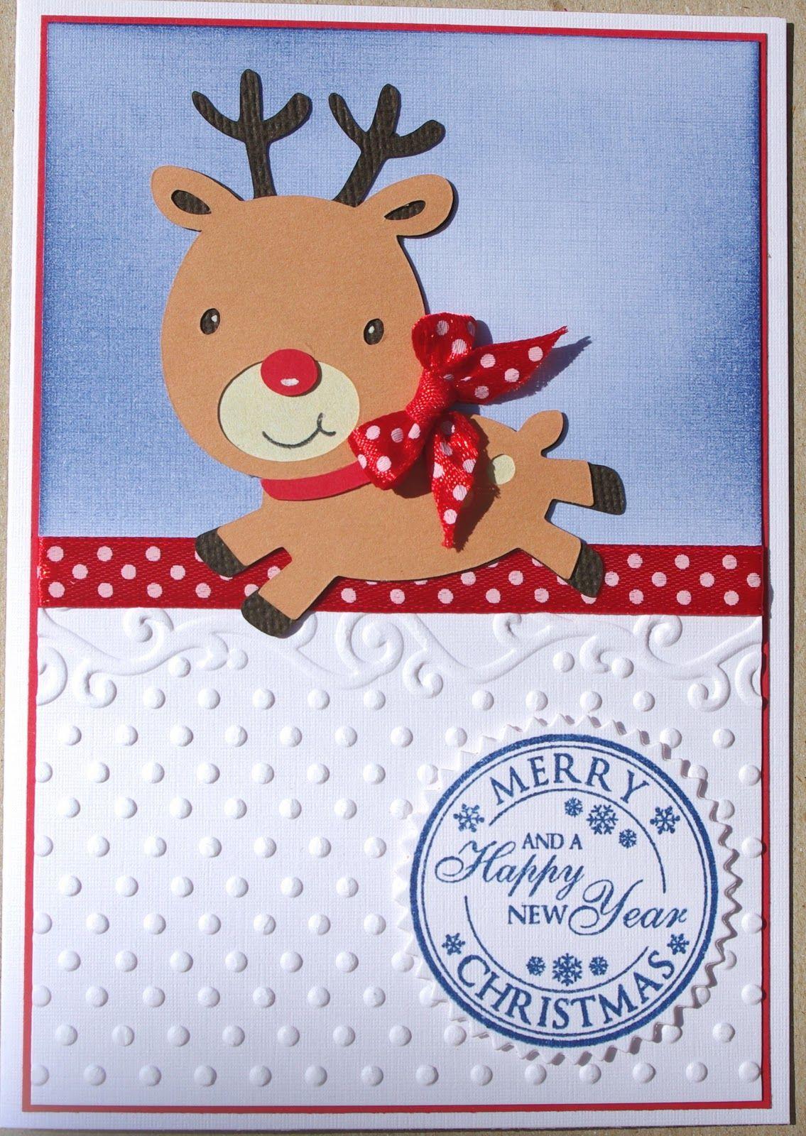 Christmas Card Cricut Create a Critter Reindeer