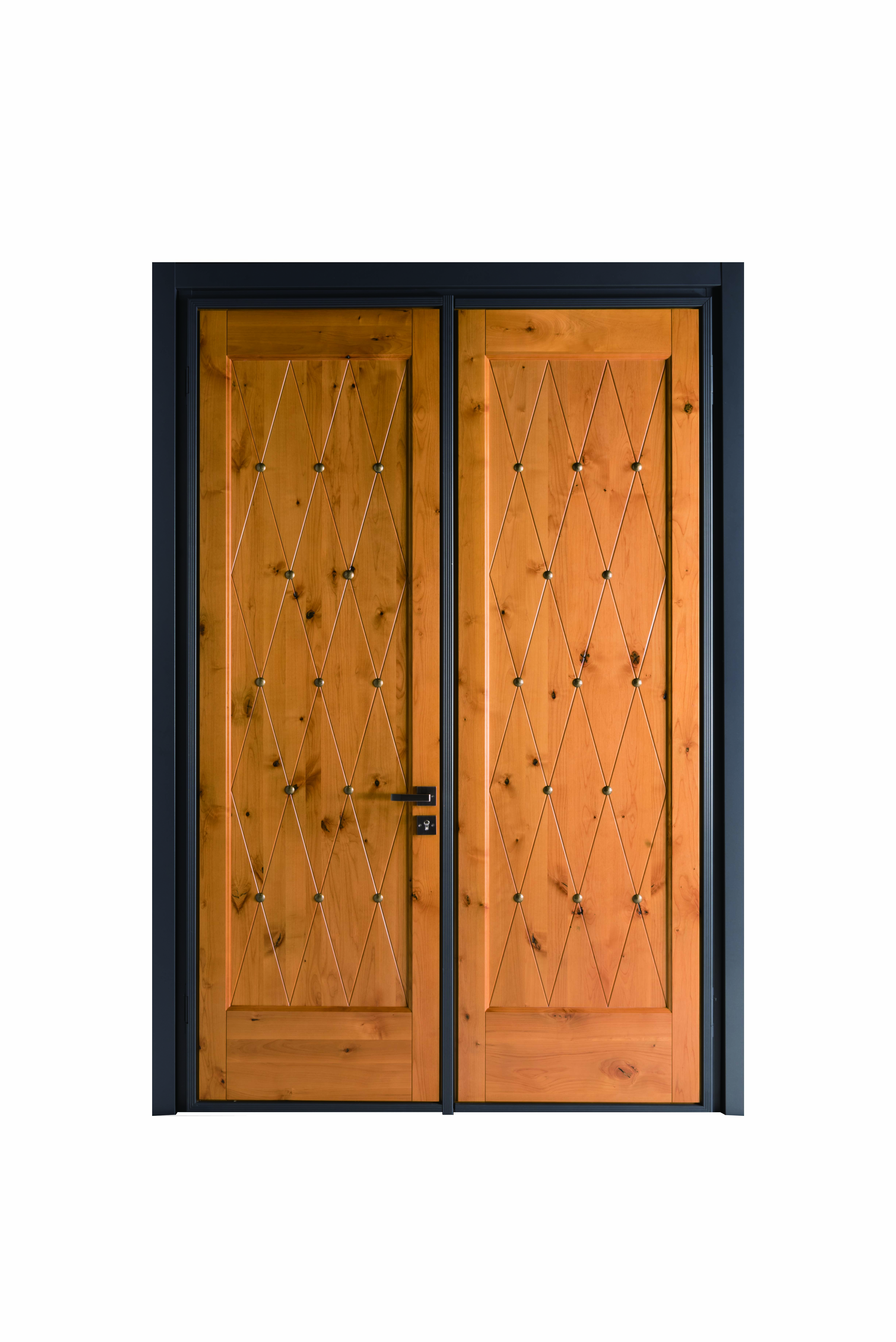 High End Top Quality Entrance Door With Anti Theft And Fire Proof Performance Steel Frame Alder Wood Aluminium Doors Door Design Affordable Windows