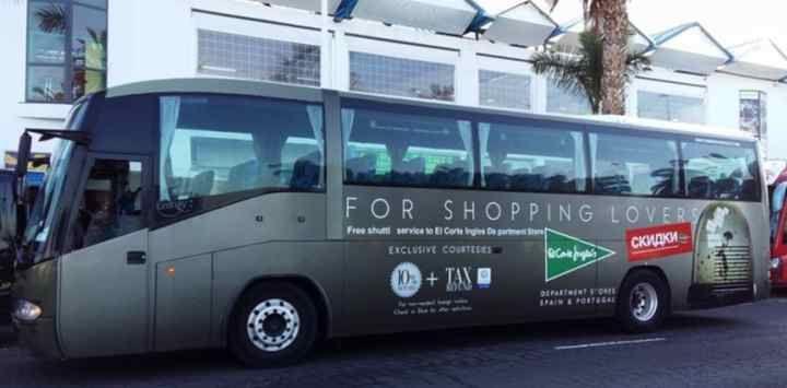 gratis bus el Corte Inglés