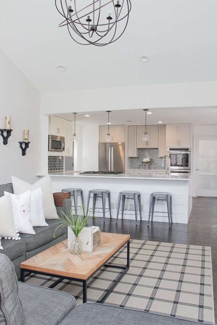 Modern Farmhouse Living Room Renovation | Lovesac sactional, Modern ...