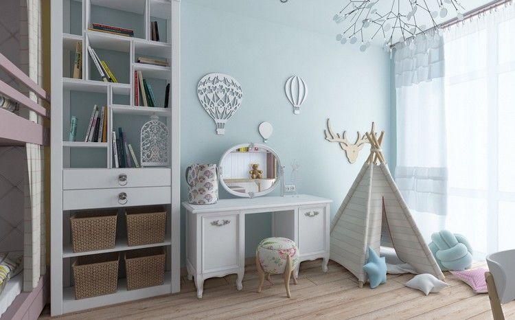 Tipi im Spielecke des Kinderzimmer bauen | Kinderzimmer | Pinterest ...