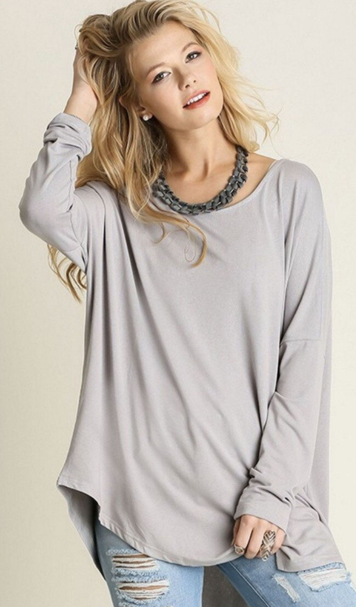 Lazy sunday comfy top in silver products pinterest products
