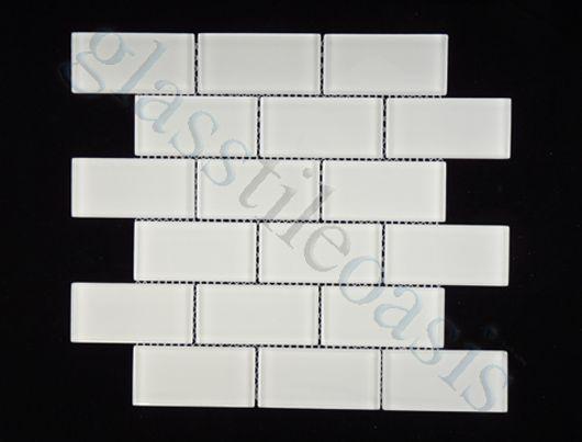 Bright White 2 X 4 Subway Brick Glossy Gl Tile