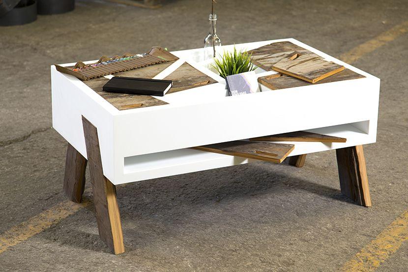 mesa de centro con compartimentos en cubierta - Buscar con Google - mesas de centro de diseo