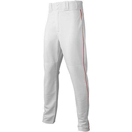 Majestic Men S 8940 Zipper Front Baseball Pant White Scarlet Medium Baseball Pants Baseball Outfit Pants