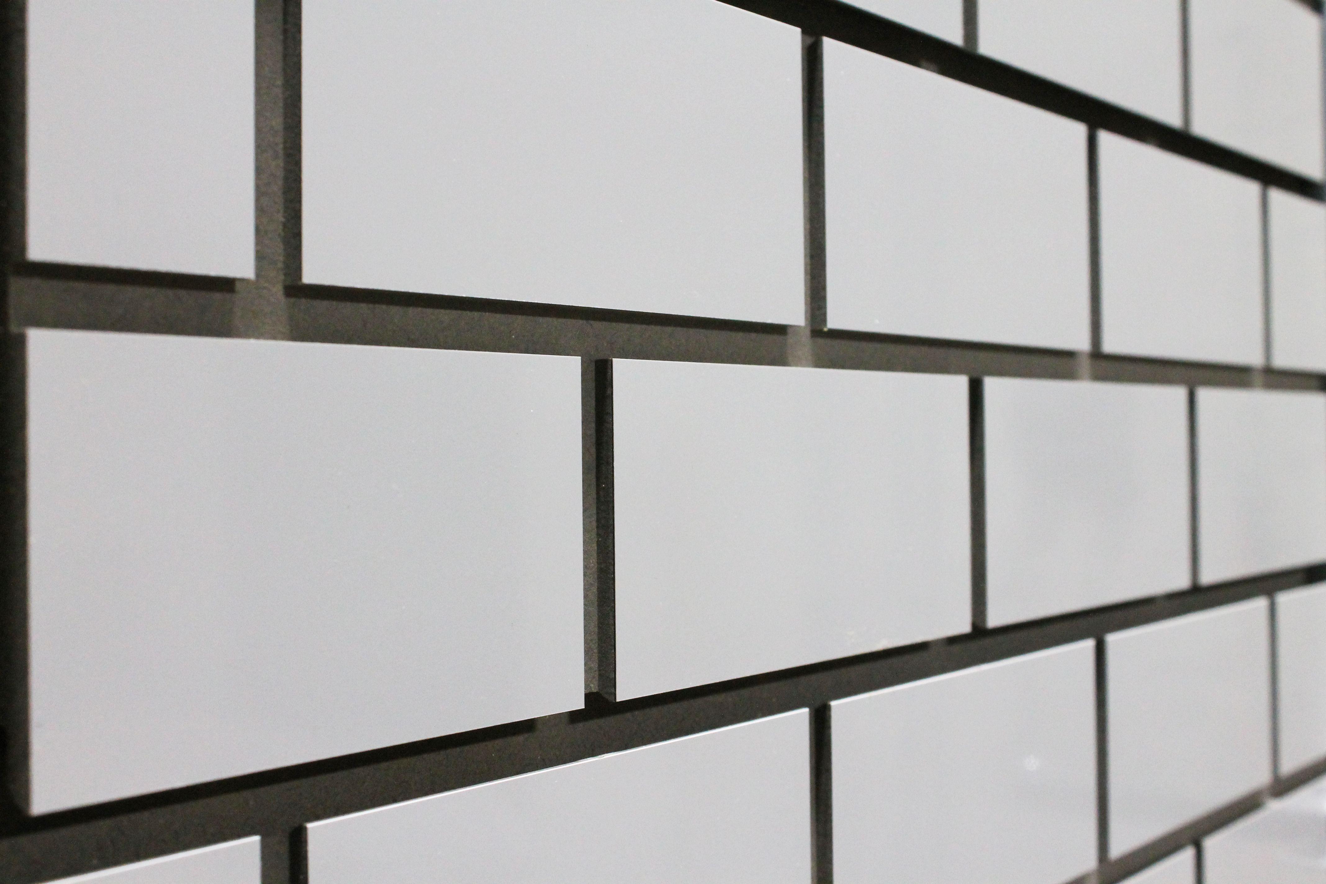 slat wall subway tile