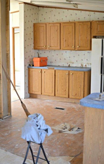 Double Wide Remodel Before And After Kitchen Cabinets 33