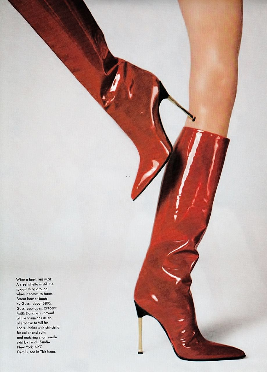 telojuropordior: gucci boots by steven meisel for vogue us july 1997.