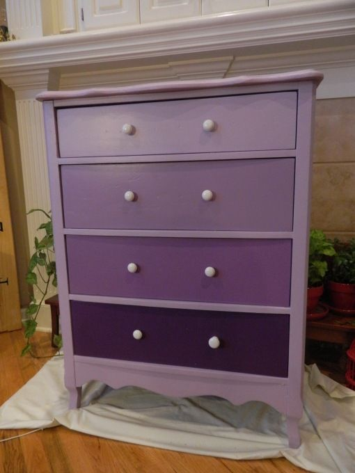 Pink Storage Bins Girls Flower Drawers Chest Dresser: Purple Painted Dresser I'm So Doing This In Pink Purple