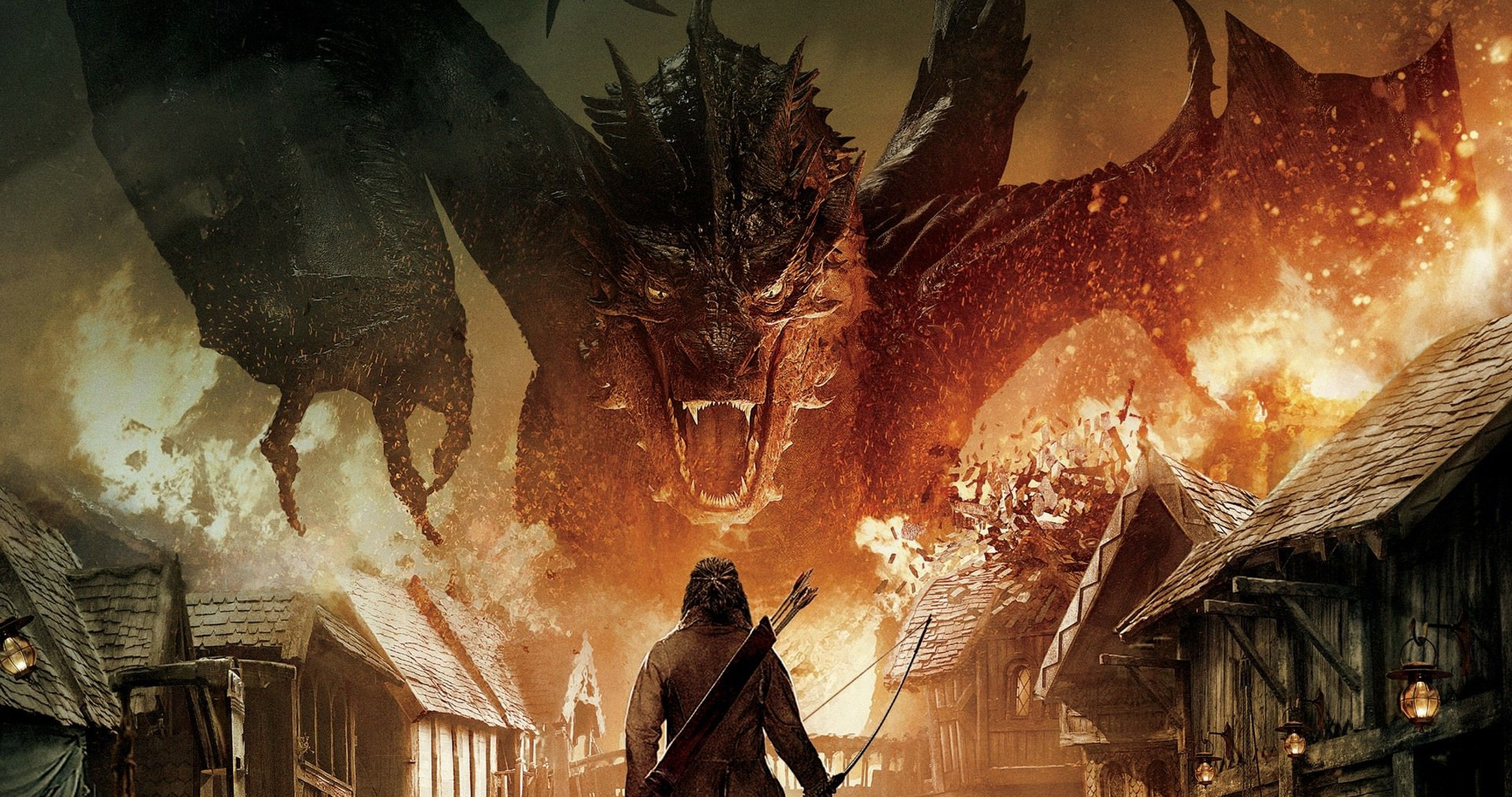 The Hobbit The Battle Of The Five Armies Dragon 4k Ultra Hd Wallpaper The Hobbit Smaug Desolation Of Smaug