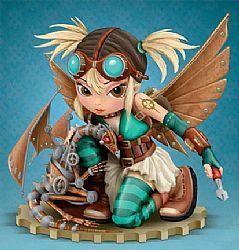 Art: Mechanical Dragon Fairies - STATUE with Bradford Exchange by Artist Jasmine Ann Becket-Griffith