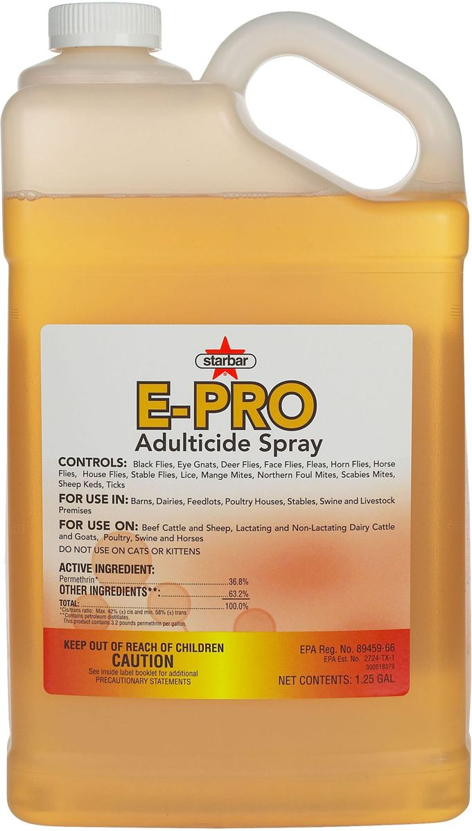 E Pro Adulticide Permethrin 36 8 E Pro Adulticide Permethrin 36 8 For Livestock 1 25 Gallon Livestock Poultry House Deer Fly
