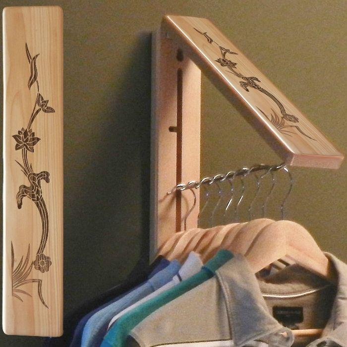 Add Space Saving Storage For Clothing In Any Room Of The Home With This  Lotus Print Wall Mount Hanger Valet.