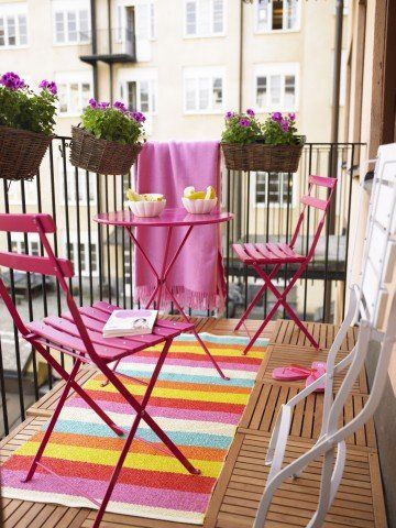 SMART IDEAS FOR YOUR SMALL APARTMENT BALCONY | Whimsical, Balconies ...