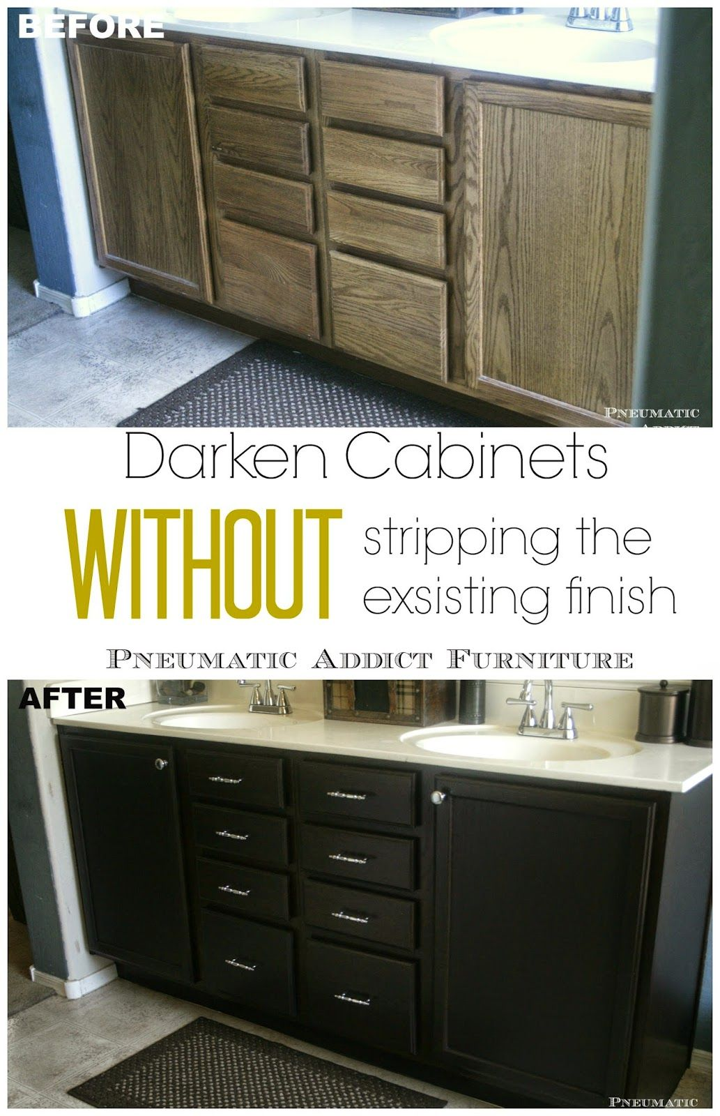 Darken Cabinets Without Stripping The Existing Finish (Someday Crafts) Gallery