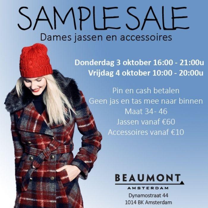 Beaumont sample sale -- Amsterdam -- 03/10-04/10