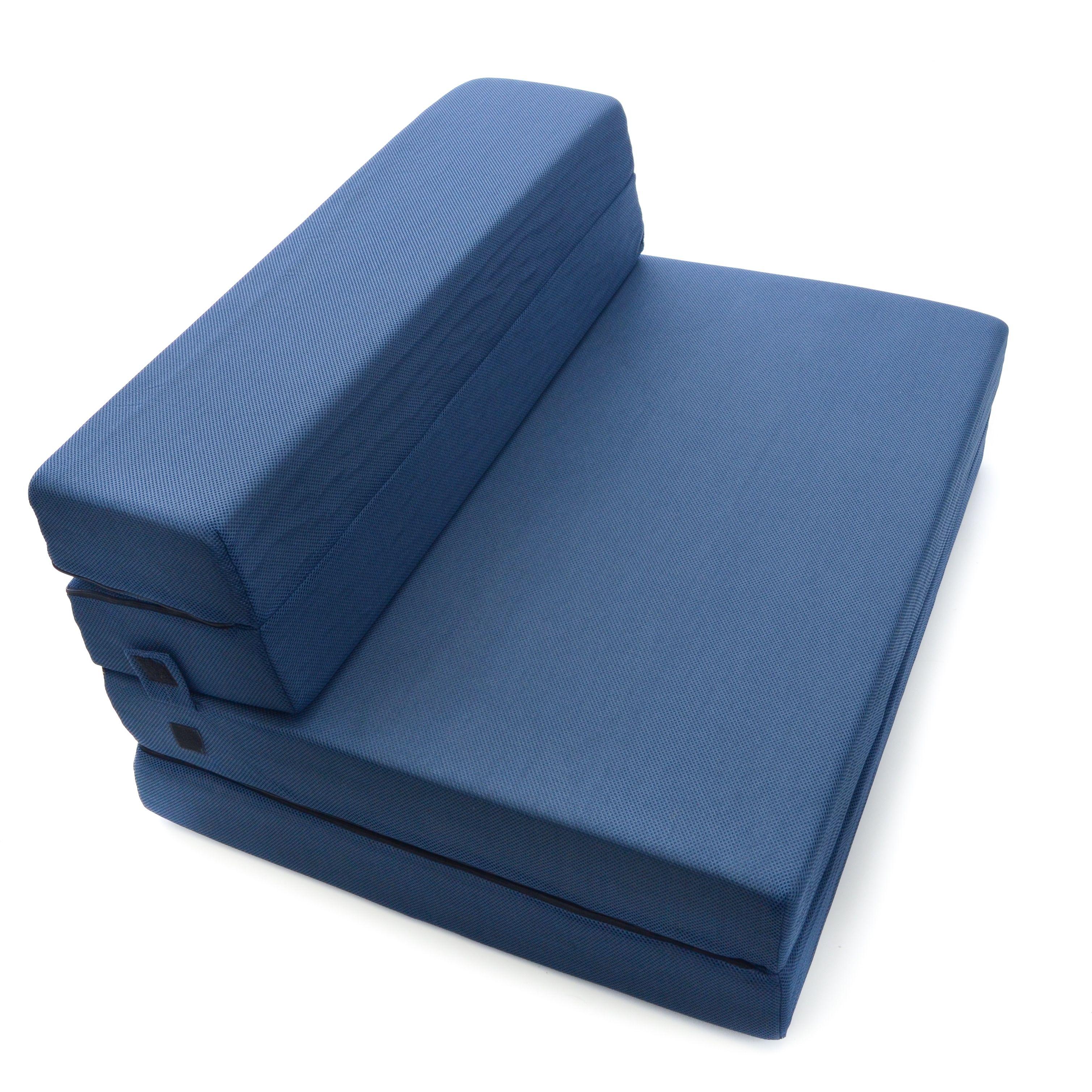 - Milliard 4.5 Inch Tri-Fold Foam Folding Mattress And Sofa Bed