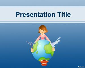travel destinations powerpoint template is a simple blue and free, Modern powerpoint