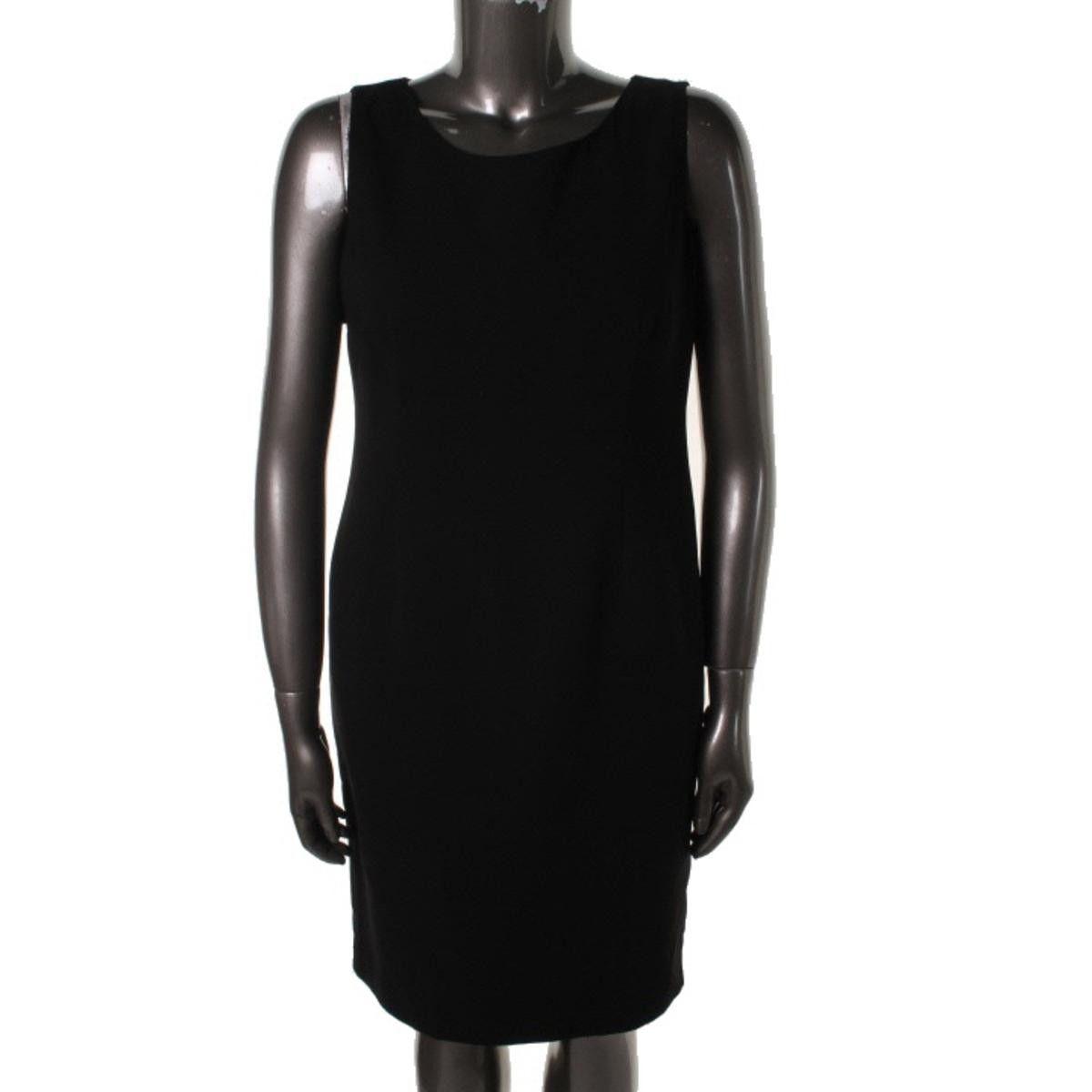 Kasper Womens Crepe Sleeveless Wear to Work Dress
