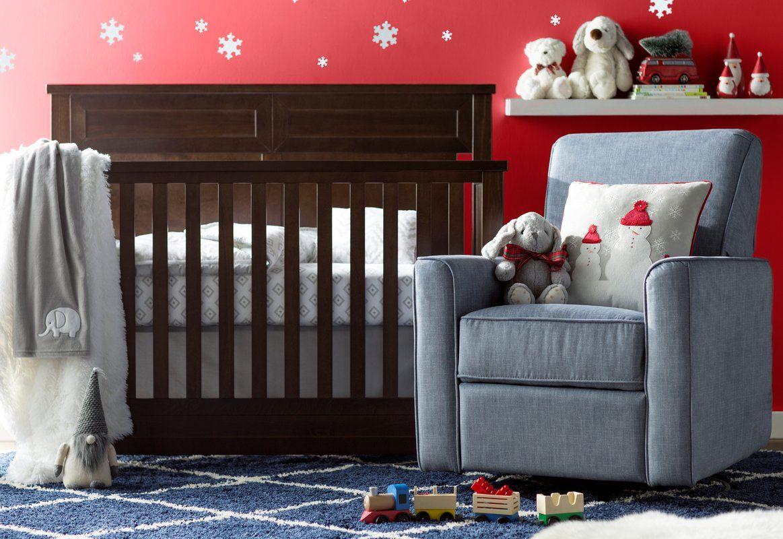 Marie Swivel Reclining Glider Convertible crib, Cribs