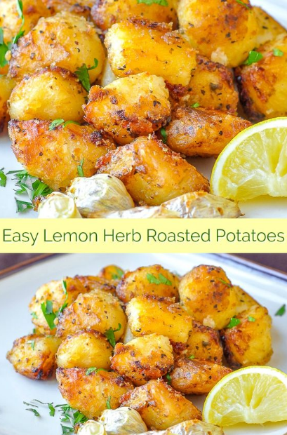 Lemon Herb Roasted Potatoes #kartoffelnofen