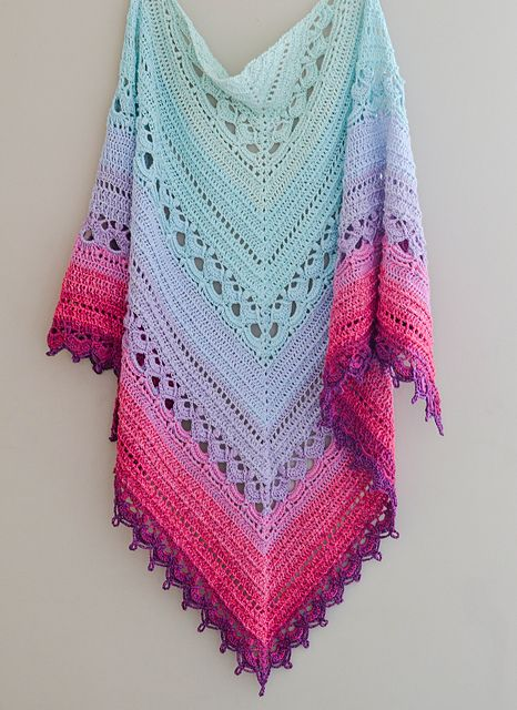 The Winifred Shawl pattern by The Loopy Stitch | Scarfs and Shawls ...