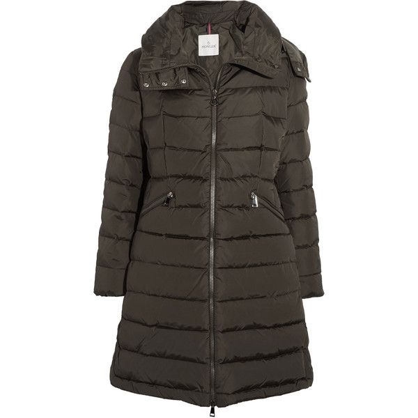 Moncler Flamette quilted shell down coat ($980) ❤ liked on