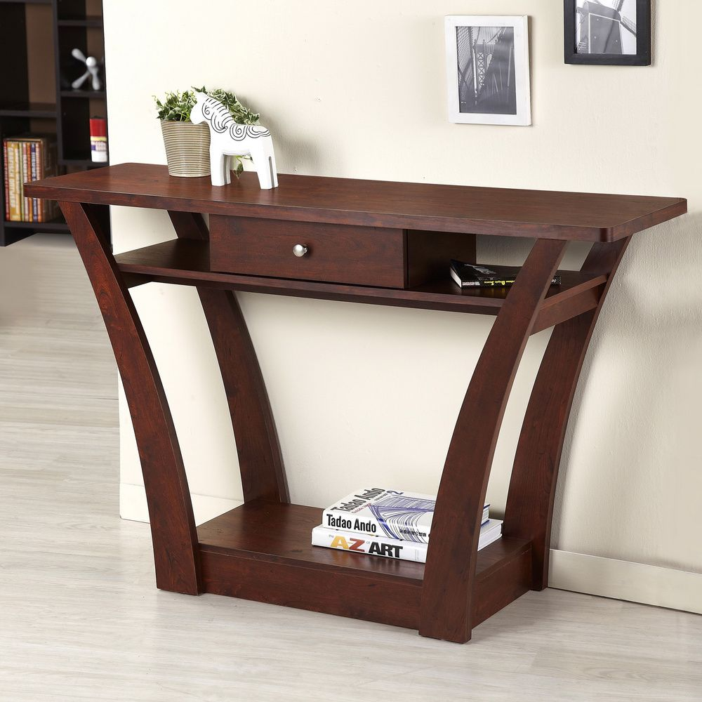 Furniture of america magnolia modern 1 drawer dark walnut sofa furniture of america magnolia modern 1 drawer dark walnut sofa table dark walnut brown geotapseo Images