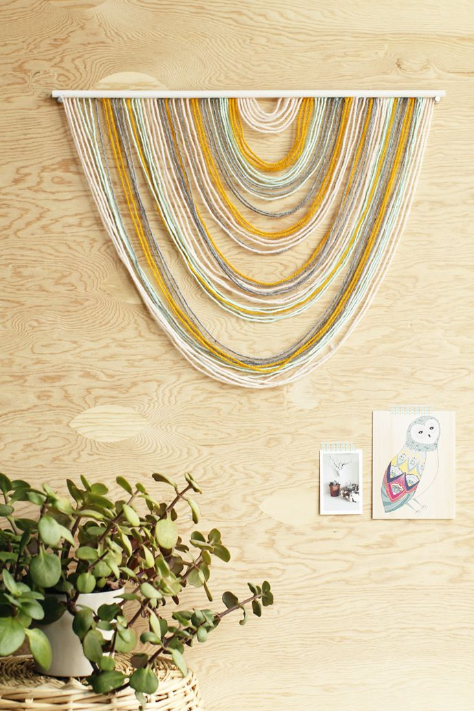 DIY Yarn Tapestry (Howe We Live) | Tapestry, Diy wall and Wall ...