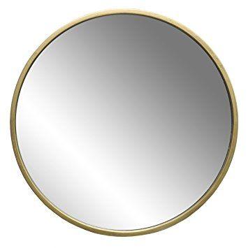 Wandspiegel Modern Vintage Spiegel Rund Mit Holzrahmen Gold