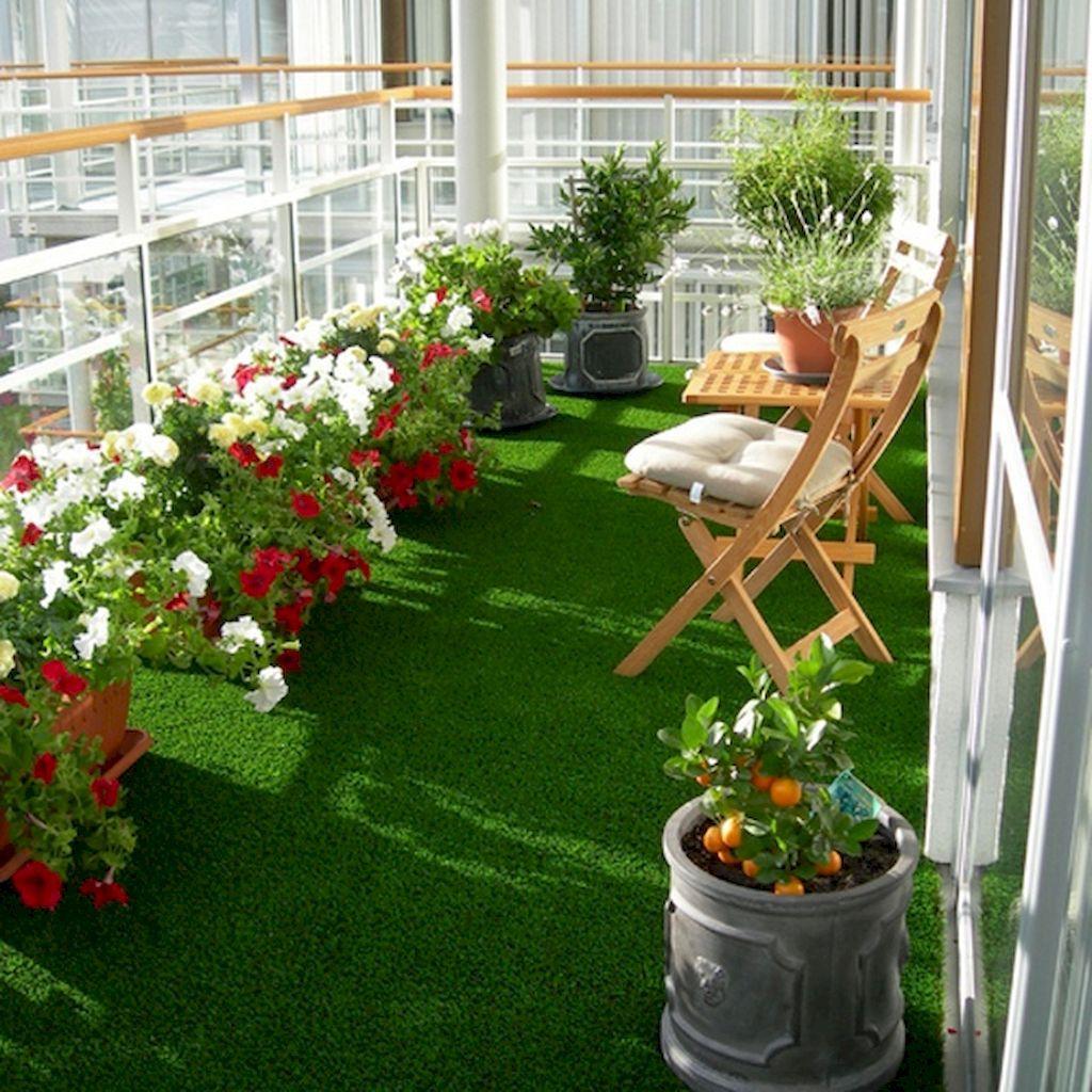 35 DIY Small Apartment Balcony Garden Ideas | Pinterest | Apartment ...