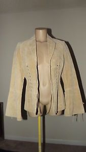 VINTAGE LADIES LEATHER SUEDE JACKET SIZE SMALL BY COLEBROOK