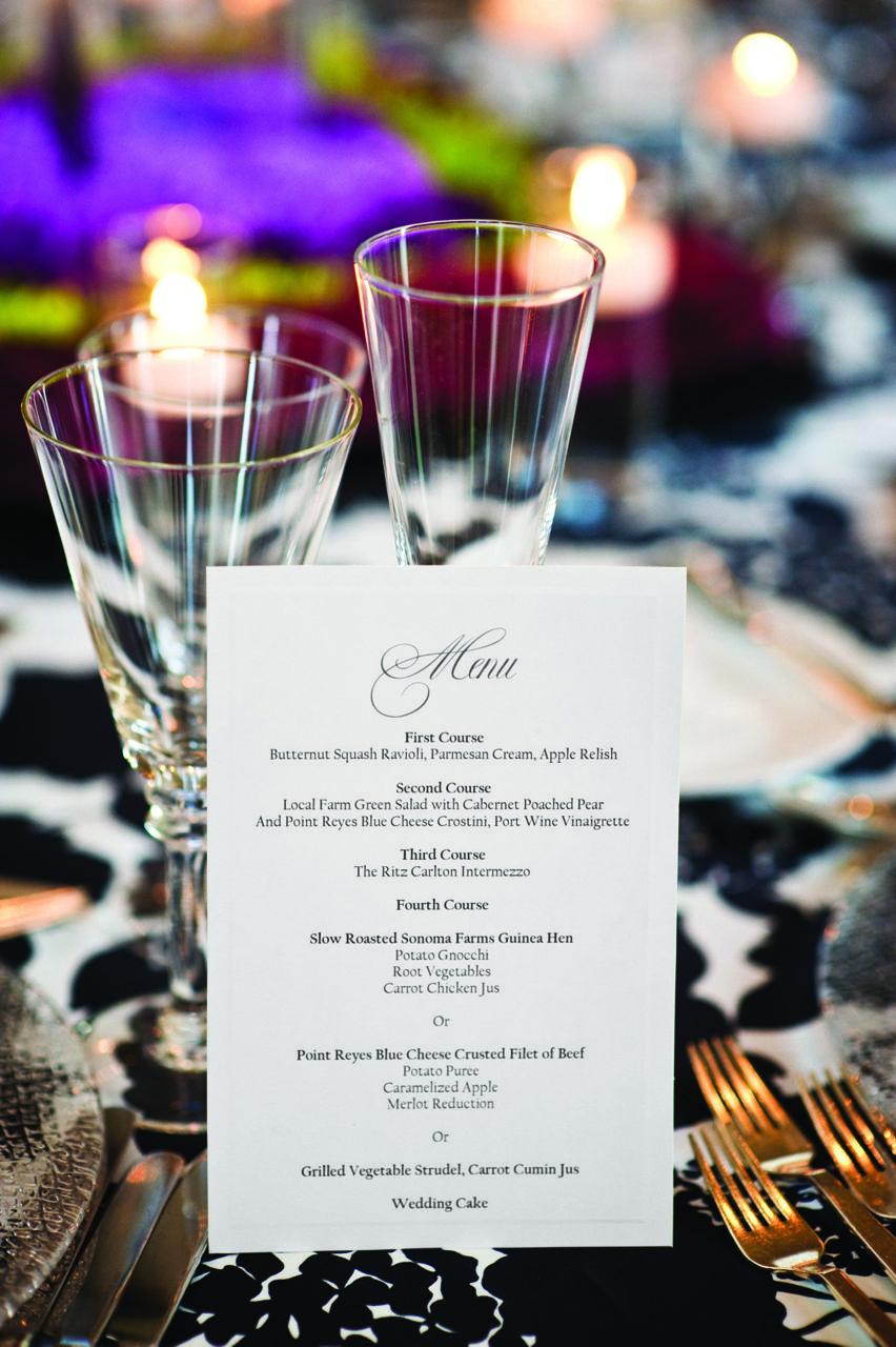 Putting On The Ritz Jessica Amir In Half Moon Bay Ca Dinner Party Menu Wedding Menu Putting On The Ritz