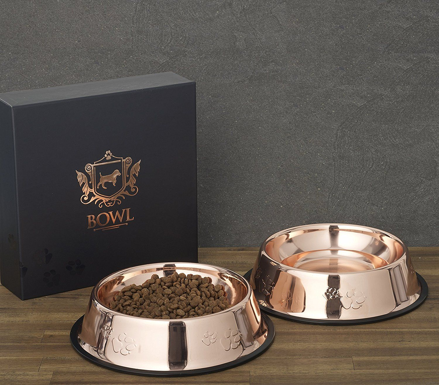 Amazon Com Dog Food Bowls In Designer Rose Gold By Beautiful