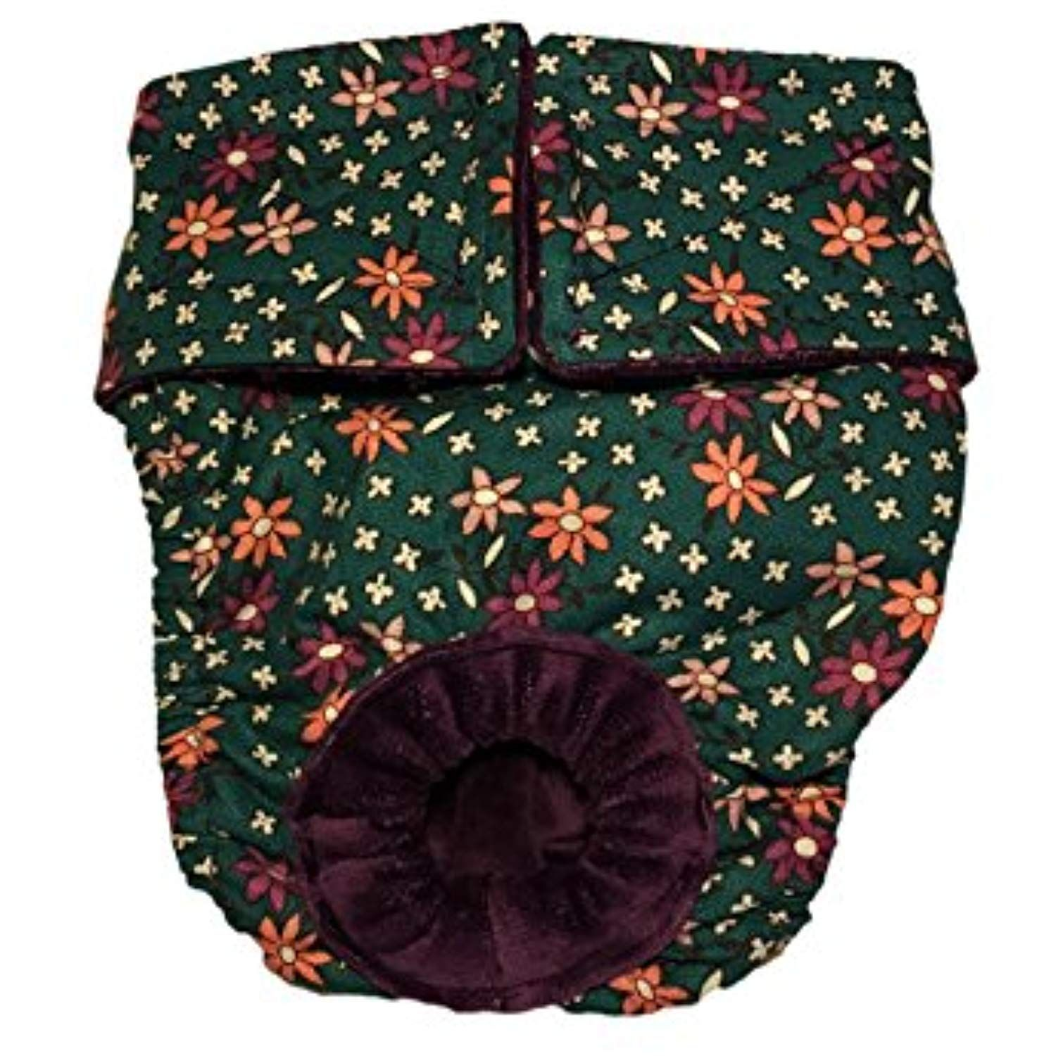 Cat diaper made in usa flowers on green washable cat