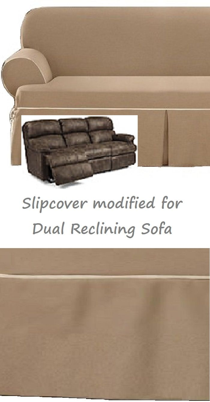 Dual Reclining SOFA Slipcover T Cushion Contrast Caramel Adapted For  Recliner Sofa