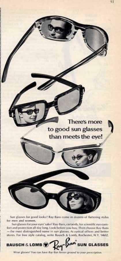 952ac17c7afbd2 Ray-Ban sunglasses advertisement, 1965.   Advertising Posters ...