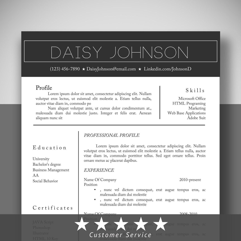 complete resume templatecover letter tempate  resume