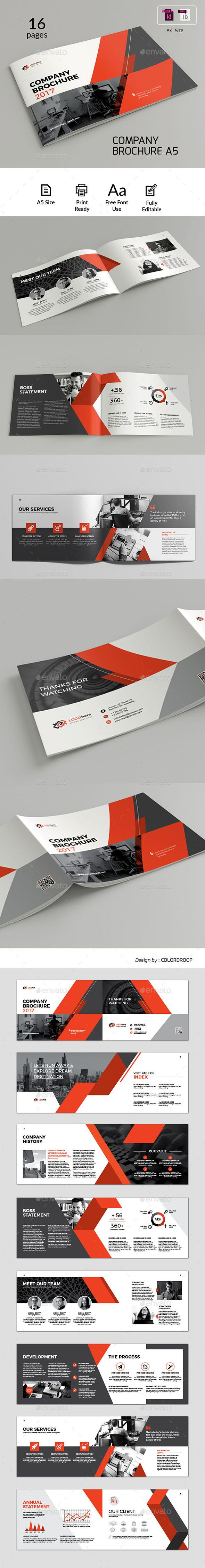 A5 Landscape Brochure Template InDesign INDD | Design | Pinterest ...