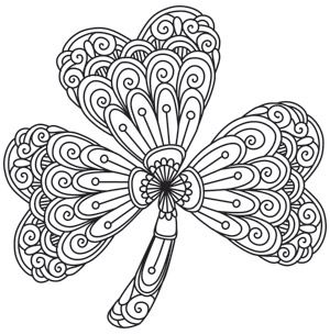Mendhika Shamrock Coloring Pages Pattern Coloring Pages Paper Embroidery